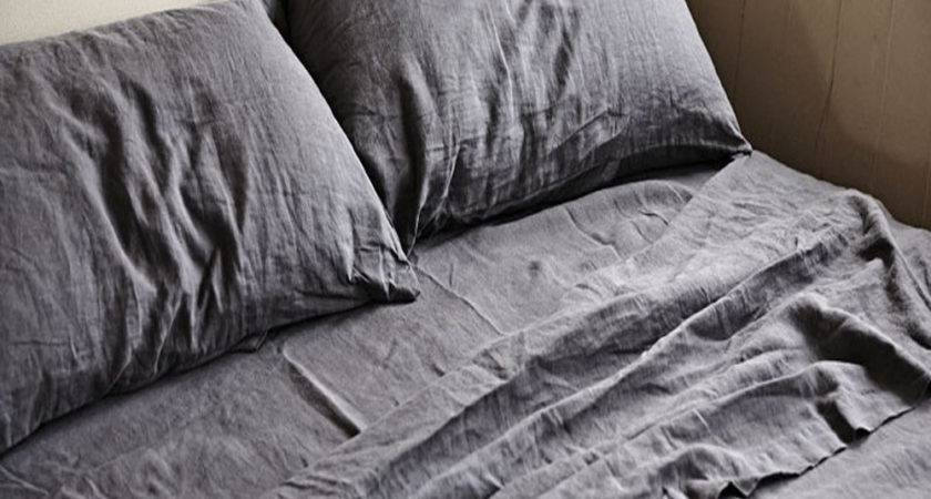 Real Stonewashed Washed French Pure Linen Sheets Double