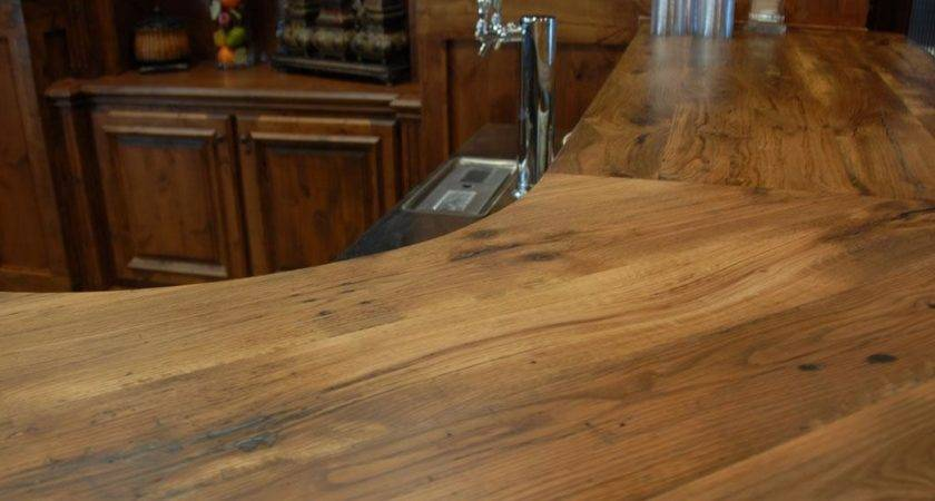 Reclaimed Wood Counter Tops Table Bar