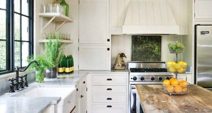 Reclaimed Wood Kitchen Island Cottage