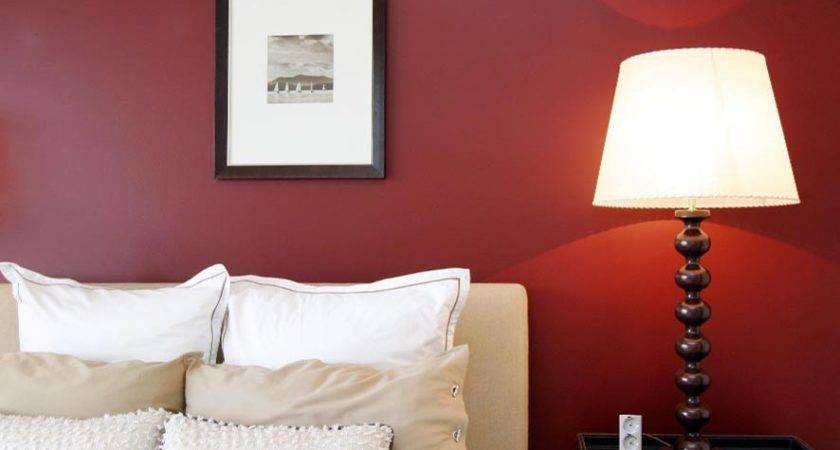 Red Bedroom Feature Wall Inspirations Paint