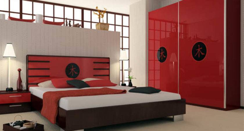 Red Black Bedroom Design Home Decorating Ideas