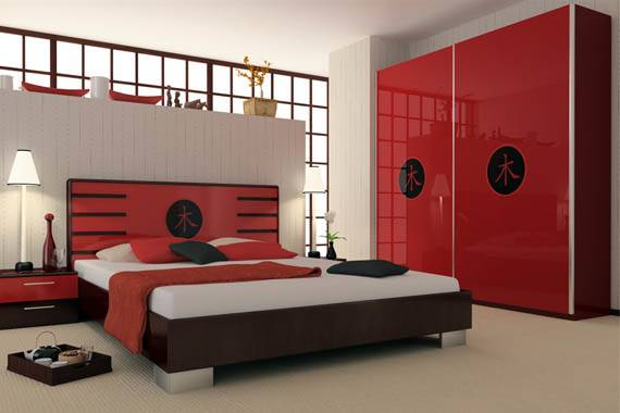 Red Black Bedroom Design Home Decorating Ideas Homes Decor