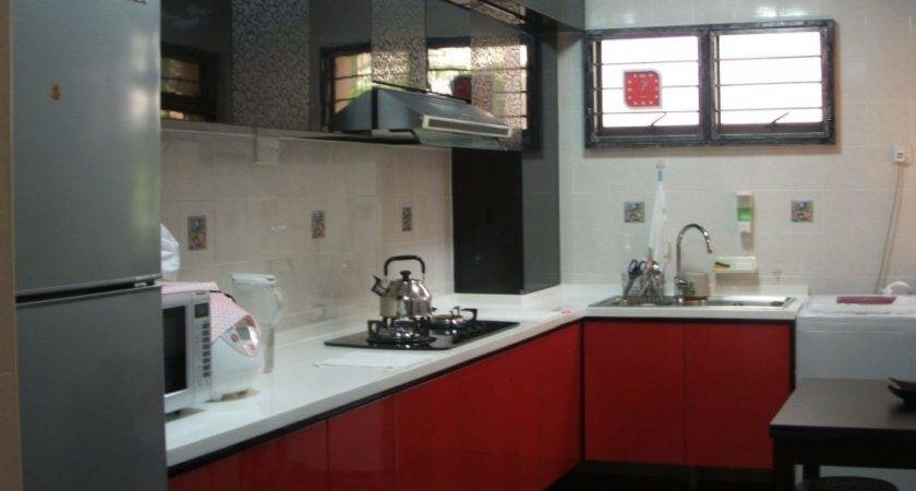 Red Black Grey Kitchen Ideas Cabinets