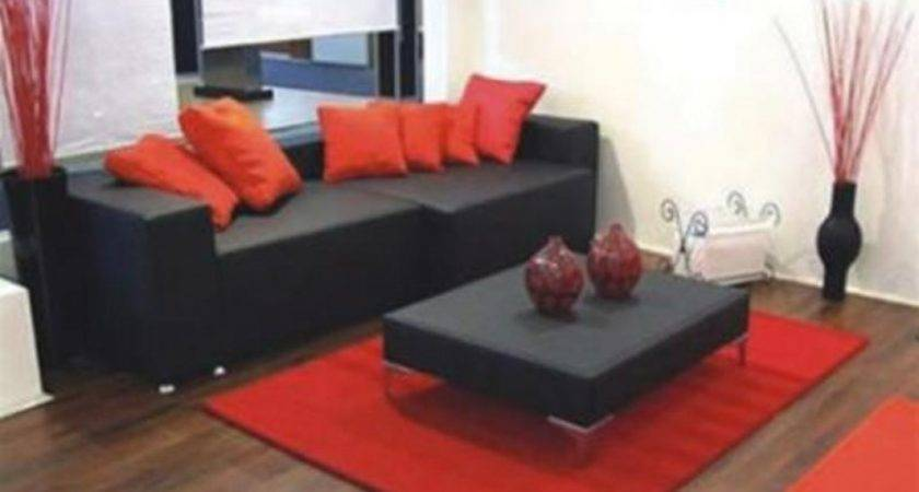 Red Black Living Room Decorating Ideas Best