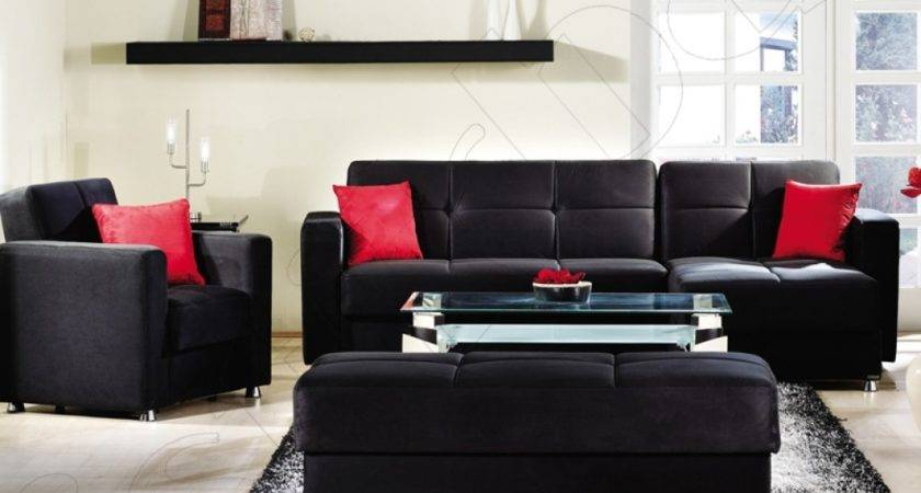 Red Black Living Room Decorating Ideas