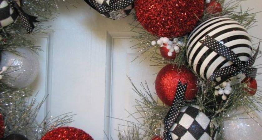 Red Black White Christmas Ornaments