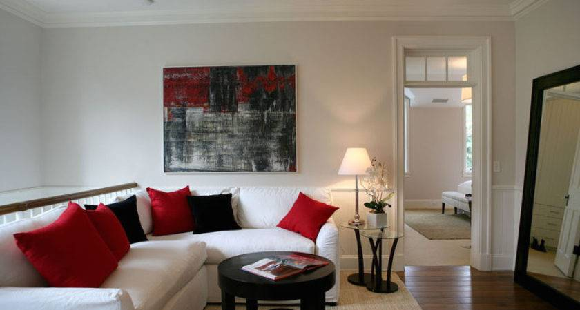 Red Black White Living Rooms Ideas Best Home Design