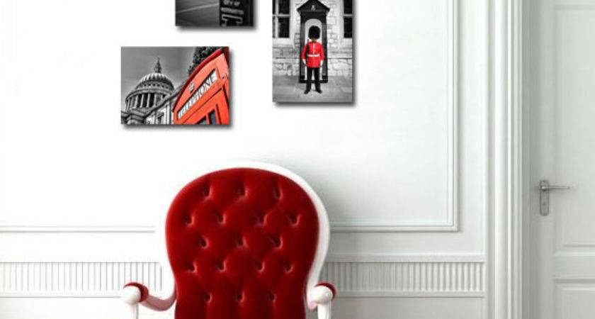 Red Black White Wall Art Grasscloth