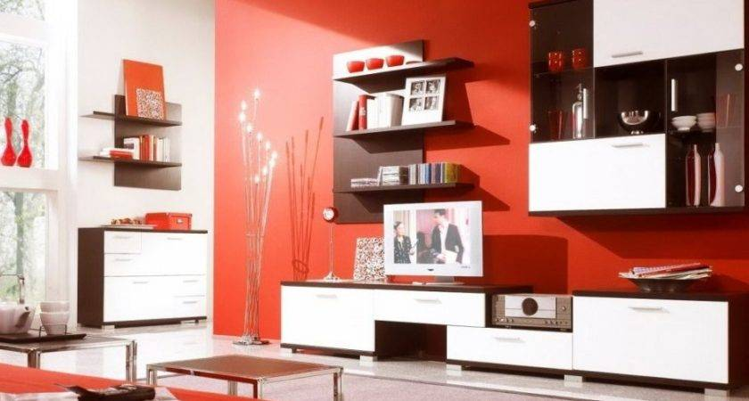 Red Brown Living Room Decorating Ideas Modern House