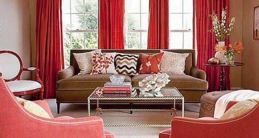 Red Brown Living Room Ideas Modern House