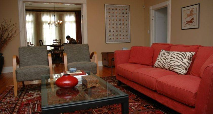 Red Couch Decorating Home Ideas