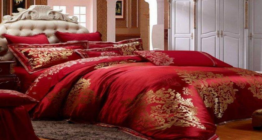 Red Gold Bedroom Luxury Bedding Collections