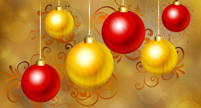 Red Gold Christmas Baubles