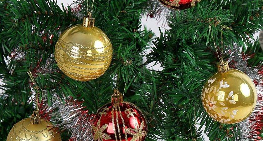 Red Gold Christmas Tree Ideas Ornaments Garland