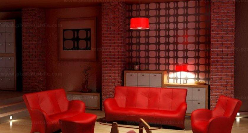 Red Gold Living Room Coma Frique Studio