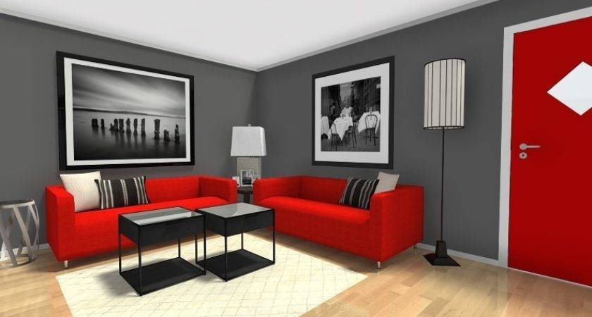 Stunning Red Black And Grey Room Designs 30 Photos Homes Decor