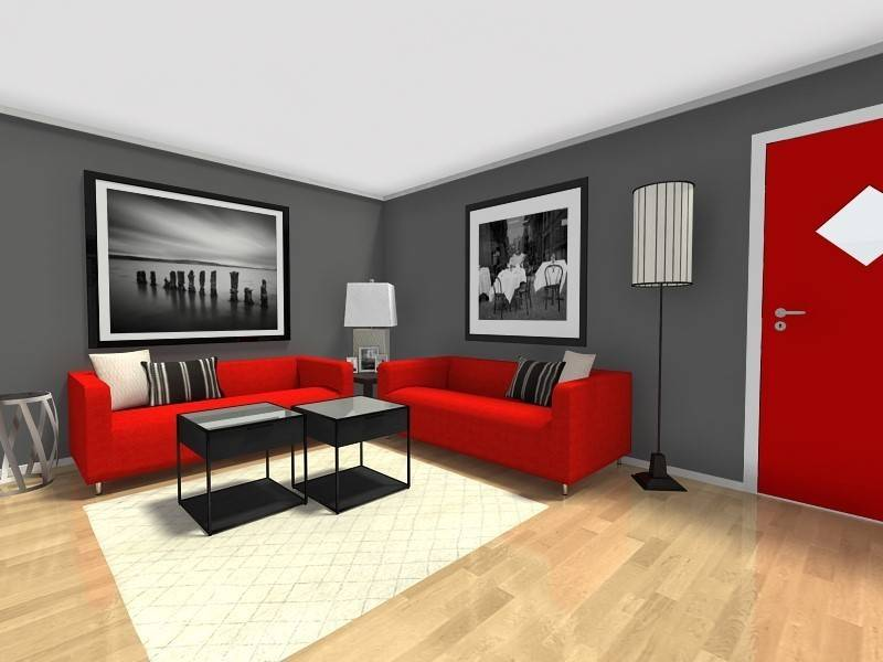 Red Black And Grey Room Designs