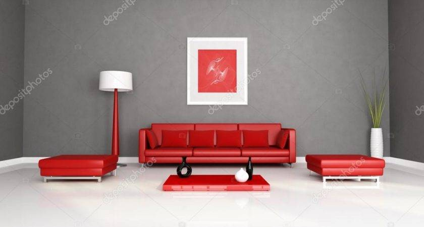 Red Gray Living Room Archideaphoto