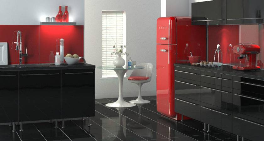 Red Grey Kitchen Cabinets Quicua