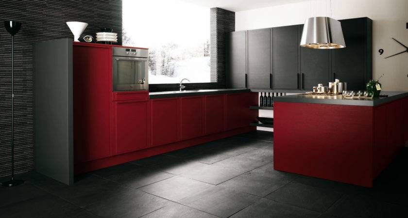 Red Grey Kitchen Designs Design Ideas