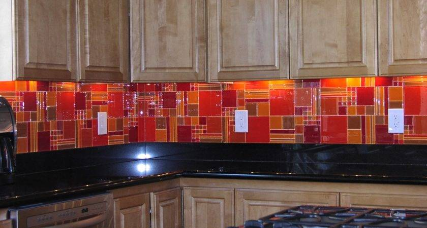 Red Kitchen Backsplash Tiles Modern Brick