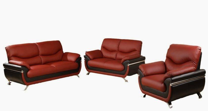 Red Leather Sofa Black