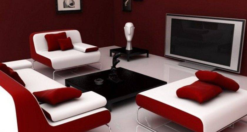 Red Living Room Ideas Maroon Home Interiors