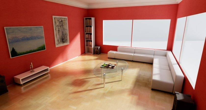 Red Paint Wall White Ceiling Room Colors Moods