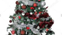 Red Silver Christmas Tree Festival Collections