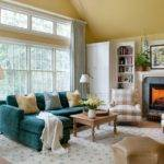 Red Teal Yellow Living Room Peenmedia