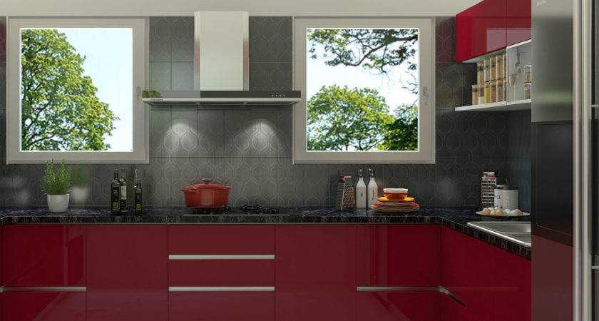 Red Tile Backsplash Kitchen Cool Black