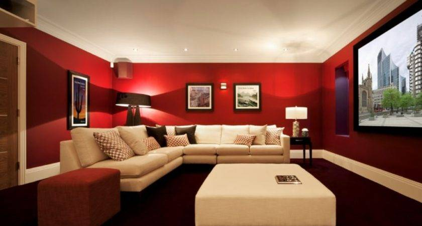 Red Wall Color White Leather Sectional Sofa Set