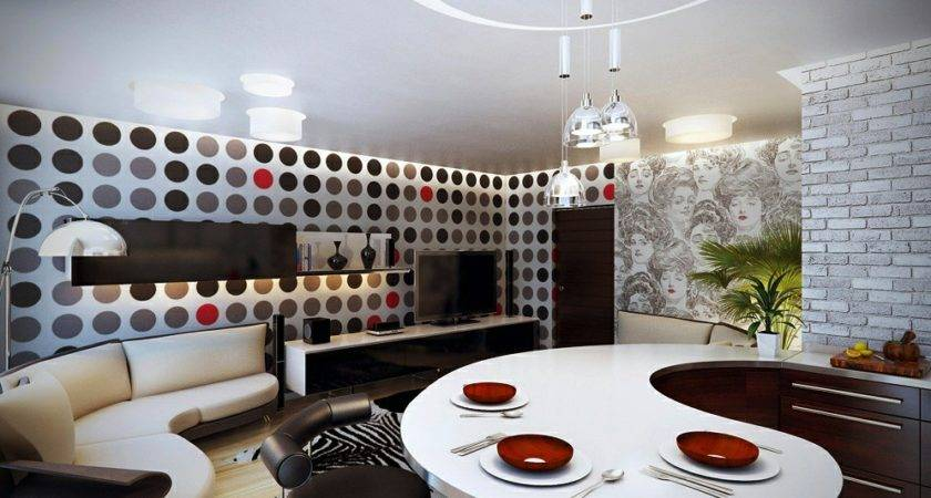 Red White Black Decor Spotty Interior Design