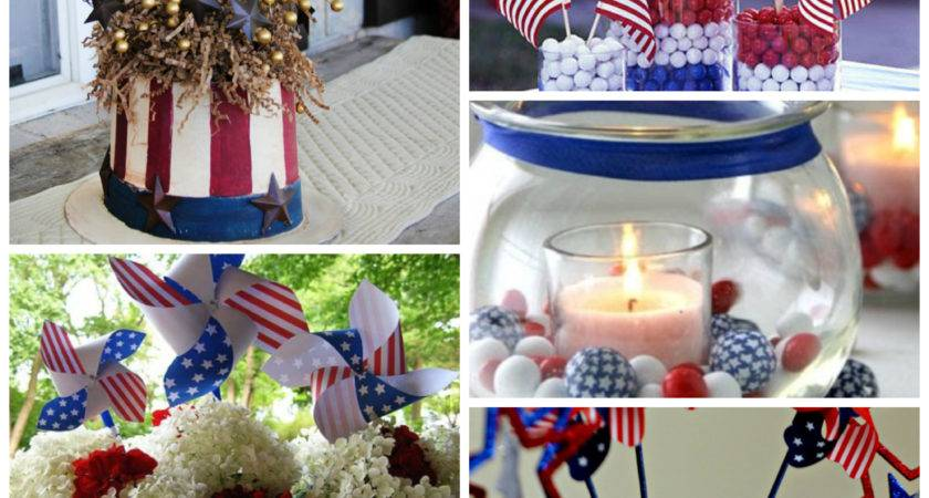 Red White Blue Centerpiece Ideas