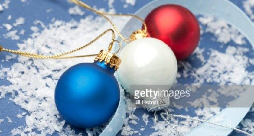 Red White Blue Christmas Ornaments Getty