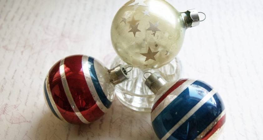 Red White Blue Christmas Ornaments Stars