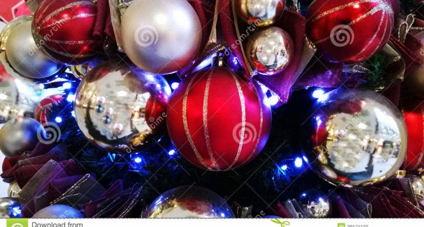 Red White Blue Christmas Ornaments