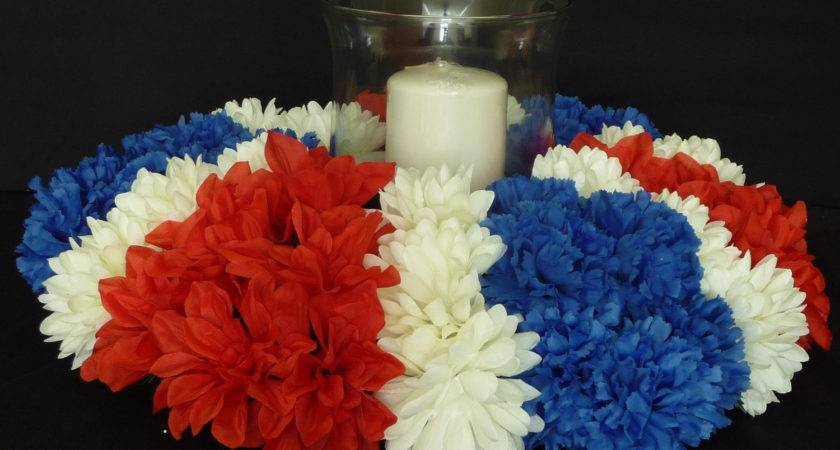 Red White Blue Table Decorations Photograph Request Cus