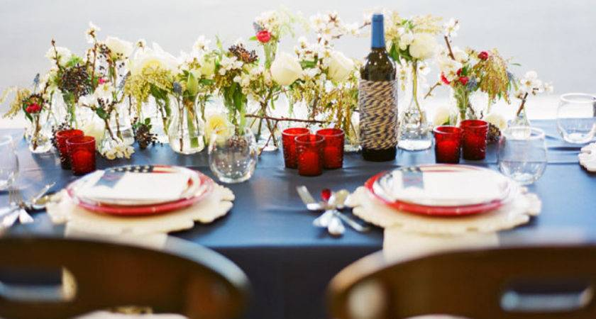 Red White Blue Table Decorations