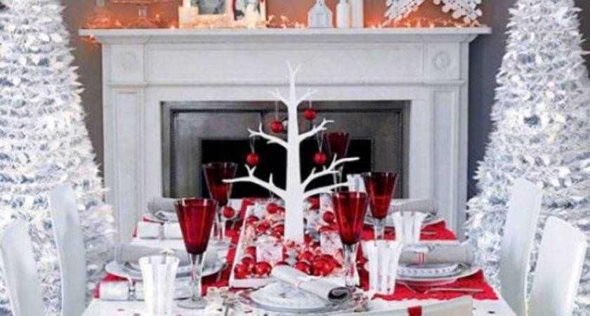 Red White Christmas Table Decorations