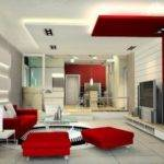 Red White Living Room Ideas Modern Design Decobizz