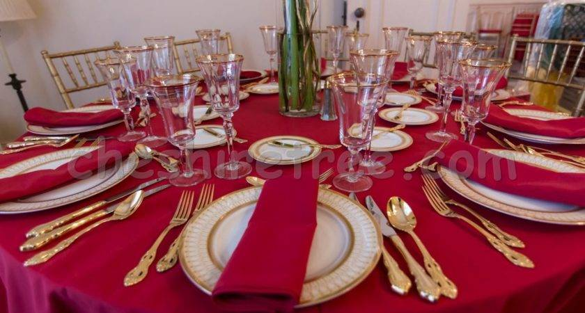 Red White Wedding Table Settings