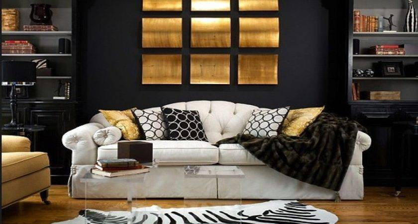 Refined Decorating Ideas Glittering Black Gold
