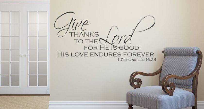 Religious Wall Decals Bible Quote