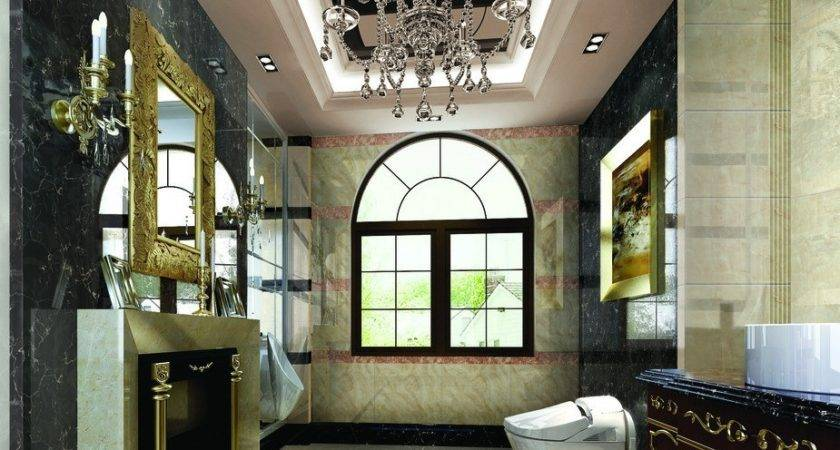 Rendering Neo Classical Style Bathroom House