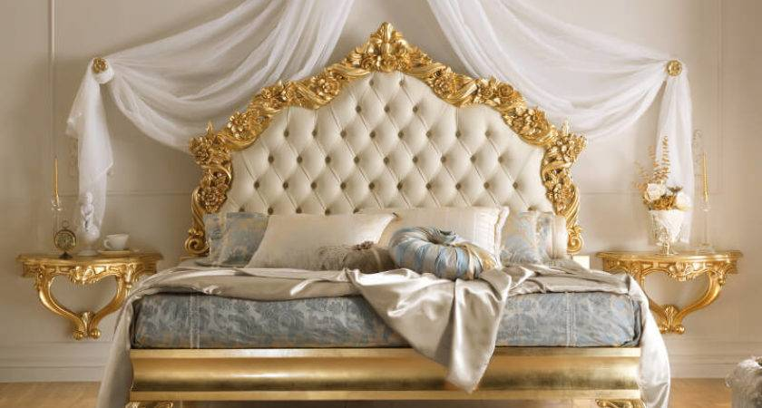 Reproduction Italian Gold Leaf Bed