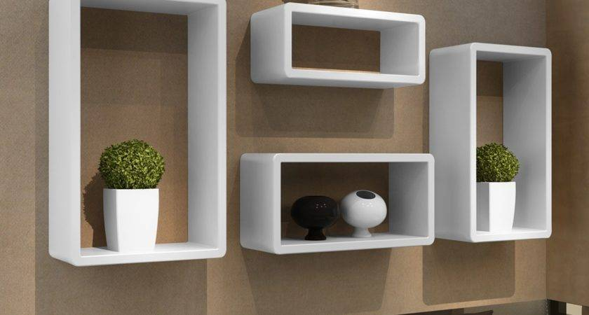 Retro Wall Cubes Floating Shelves Stand Storage Display