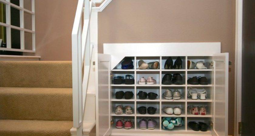 Robeson Design Shoe Storage Solutions Using Space Below