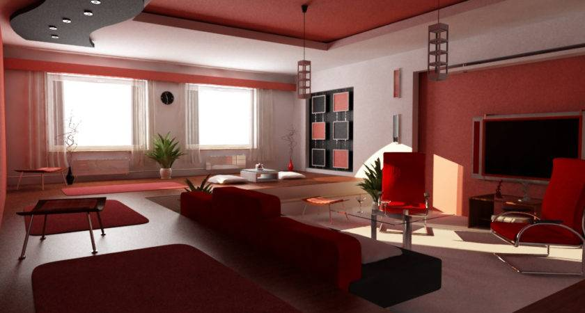 Room Black White Red Design Decosee