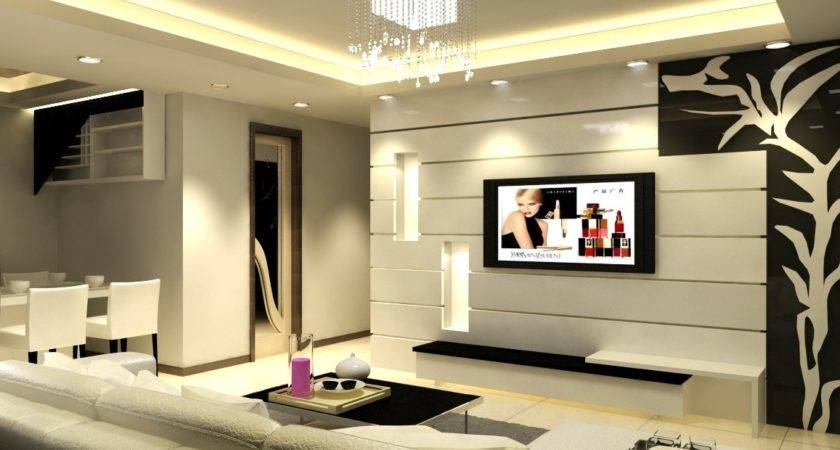 Rooms Living Wall Designs Room Lcd Epm